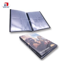 Cheap customized plastic PVC gaming card collecting album, PVC playing card collector, customized card sleeves