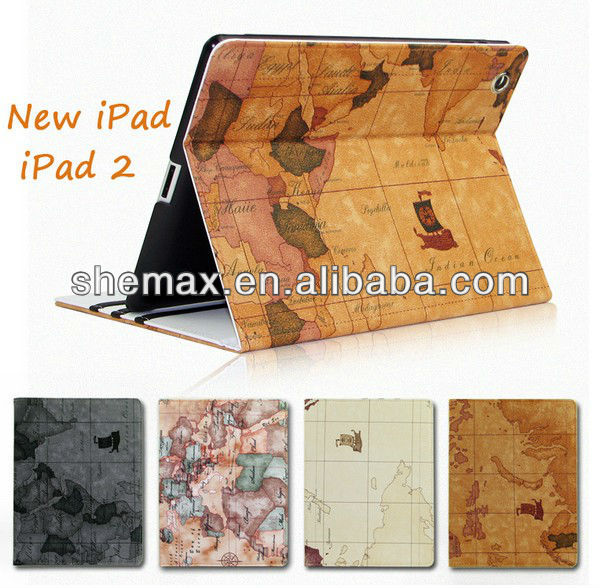 Tablet Case For Apple New iPad 3/2 Leather Sleeve Case Bag