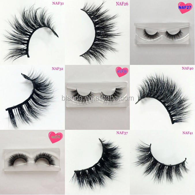 New popular style 3D mink lashes synthetic lashes silk false eyelashes magnetic eyelashes customized eyelash packaging box