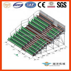 Scaffolding Retractable Grandstand Seating System Comply With Layher Event Design