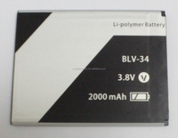 OEM long life mobile phone battery packs for LAVA smartphone battery 3.7v 2000MAH