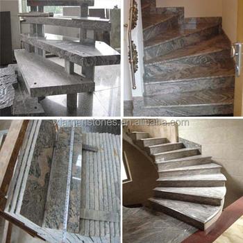Outdoor Indoor Stone Anti Slip Black Granite Stairs Steps