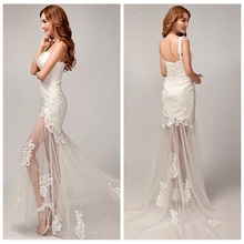one shoulder lace long wedding and evening dress