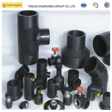 Tianjin plastic HDPE pipe fittings for water manufacturer