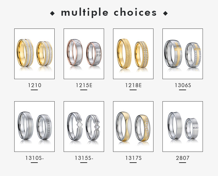 Promise rings for her unique stainless steel pure gold arabic gold wedding rings set 18k best supplier jewelry prices