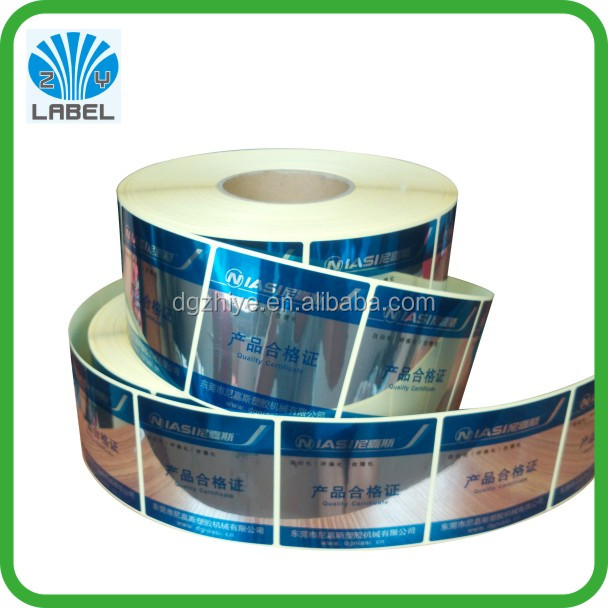 Self Adhesive Destructible Stickers and Hologram labels in roll swith