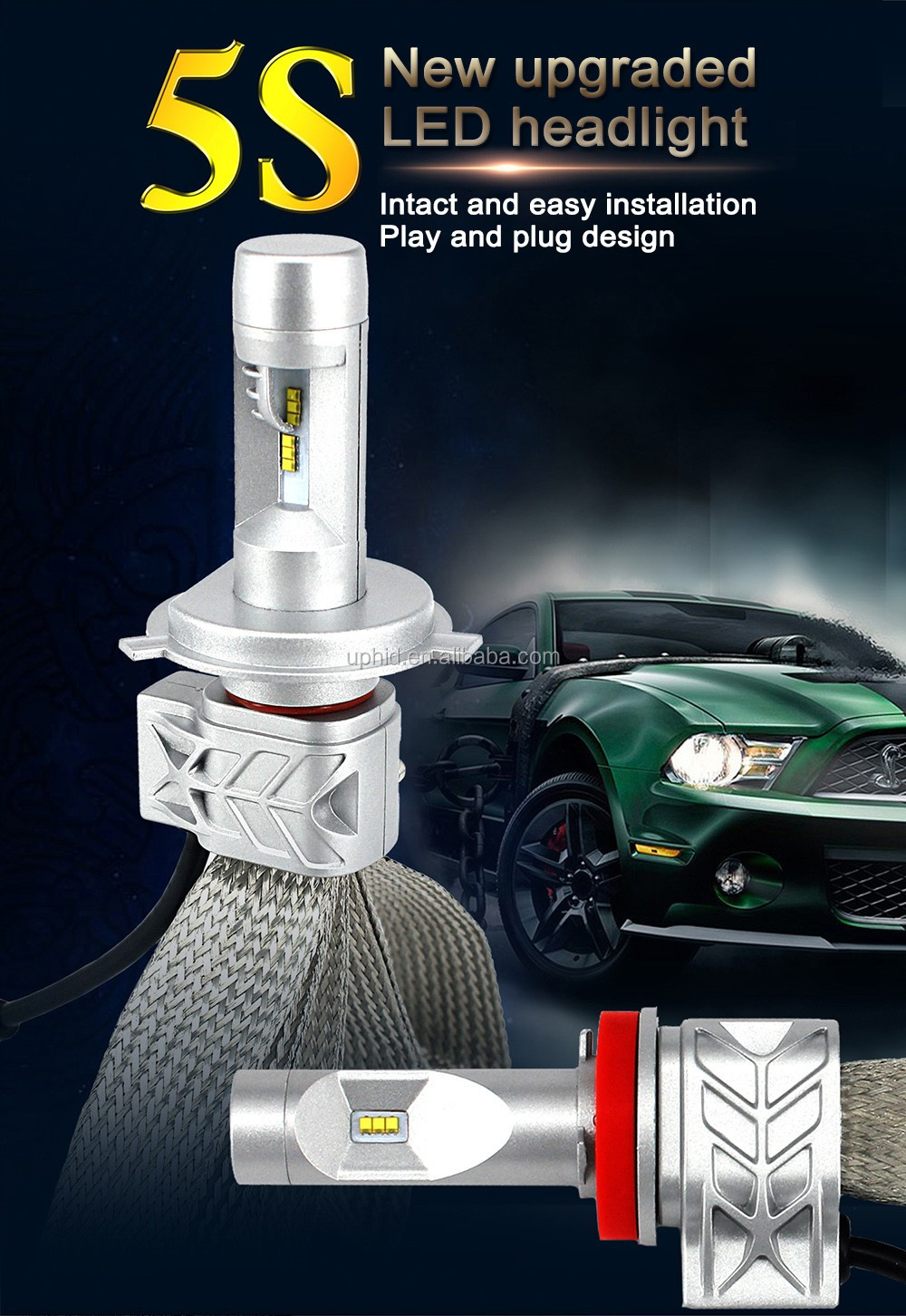 G5s 4000lm Auto Car Led Head Light With Canbus Decoder,H4 9004 ...