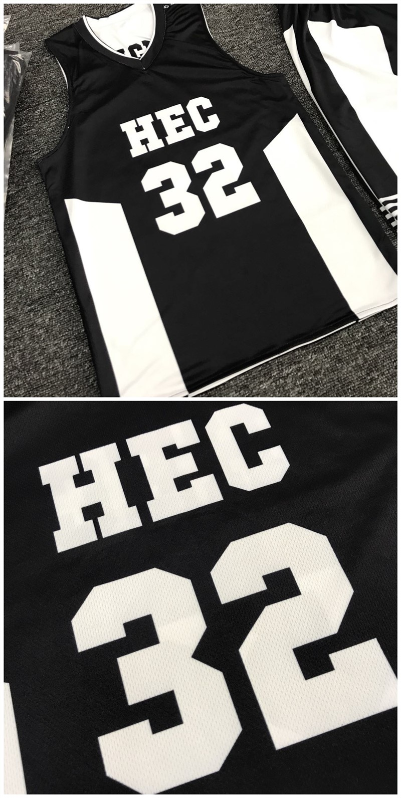 Heißer Verkauf benutzerdefinierte Top reversible Designer Basketball Jersey schwarz