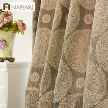 Napearl jacquard blackout church curtains for the living room window curtain covering