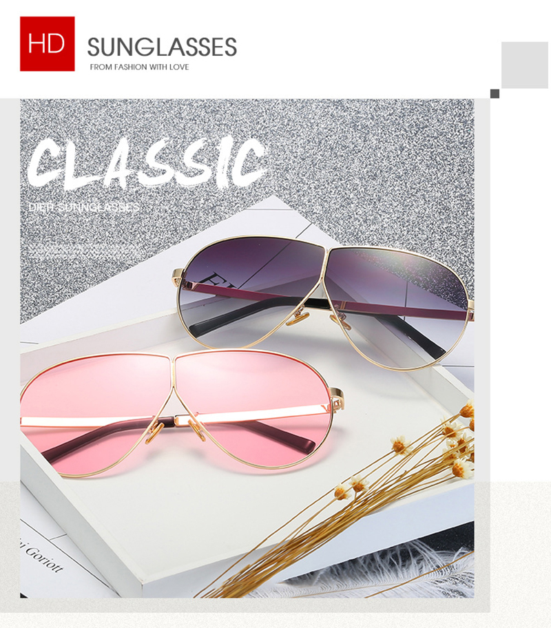 Fuqian women's aviator sunglasses company for lady-5