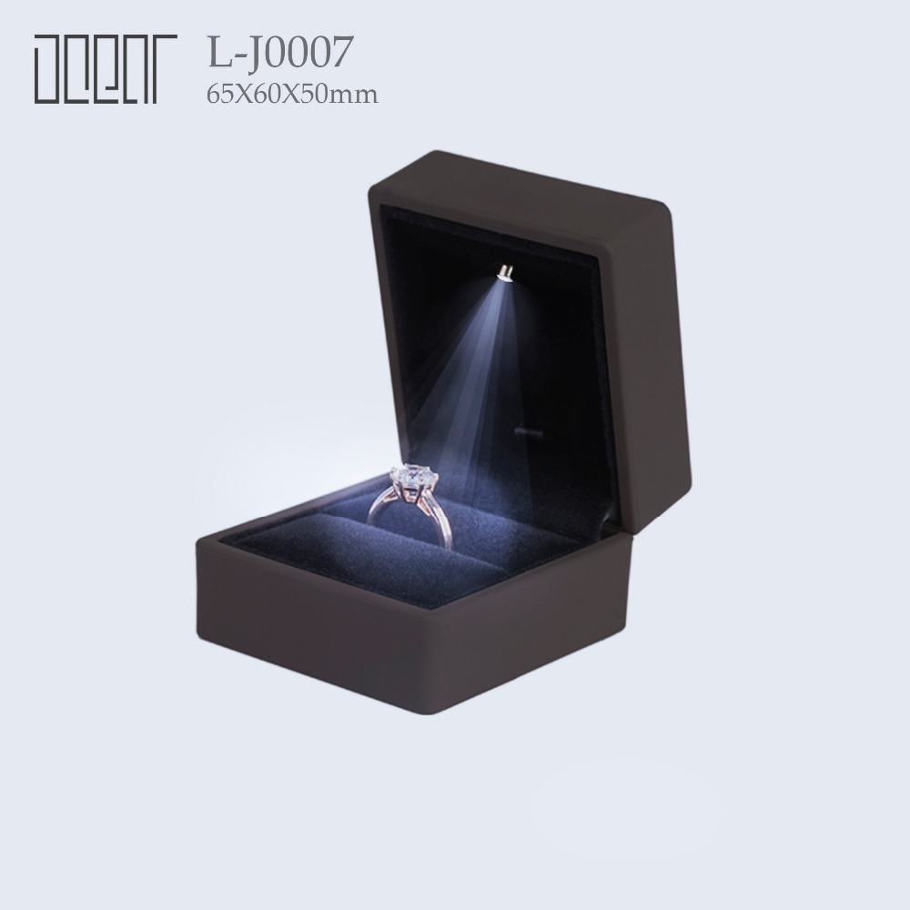 High Quality With LED Ring Jewelry Box
