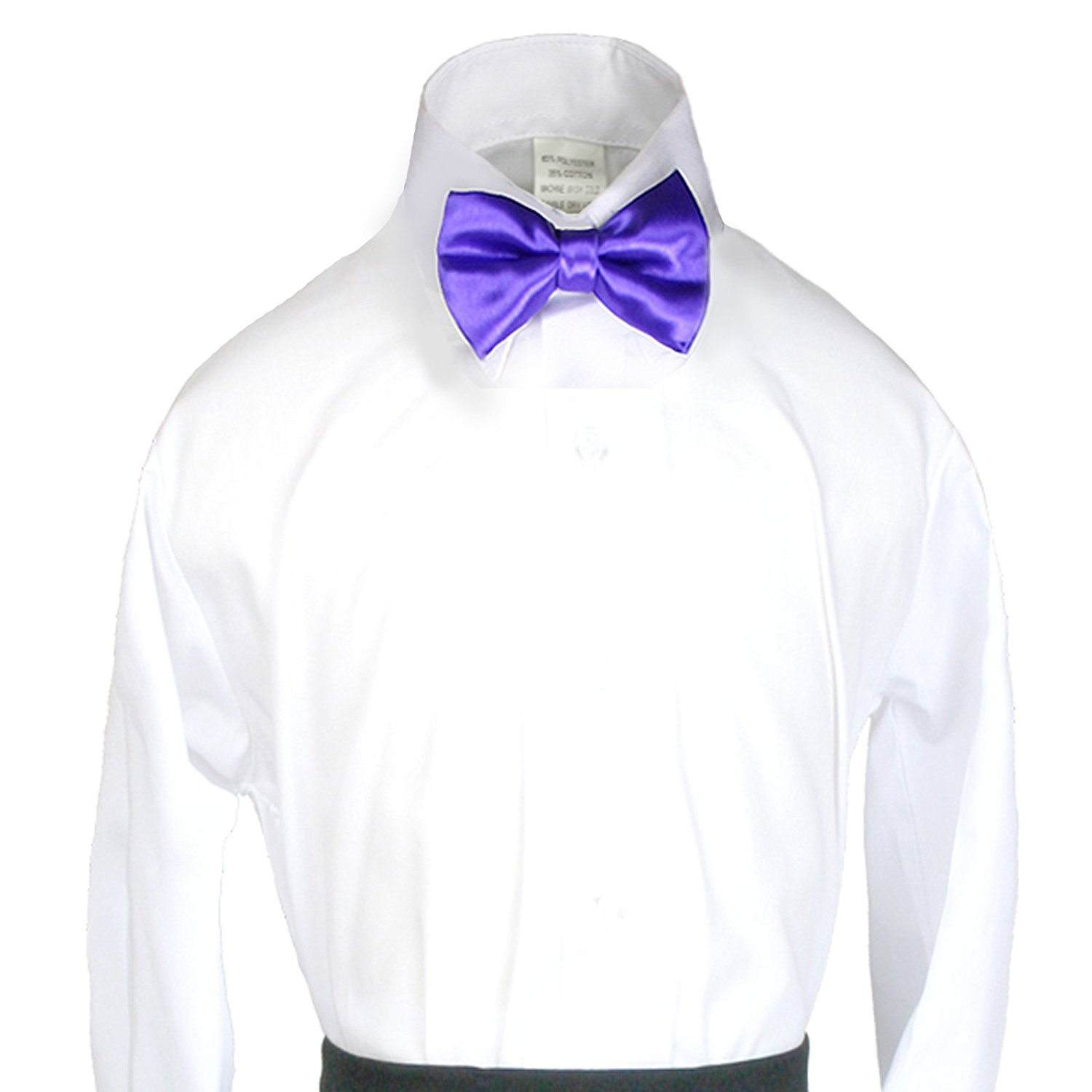 New 2pc Boys Satin Eggplant Vest and Bow tie Sets from Baby to Teen