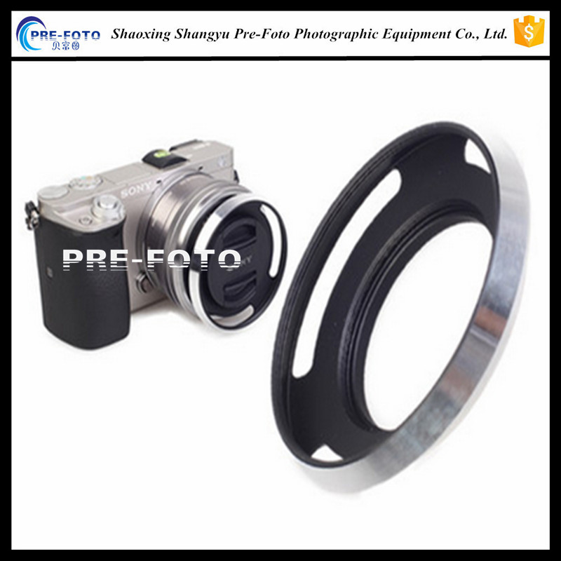 Metal 40.5mm Screw-in Vented Lens Hood for Sony A5100 A5000 EX-5TL
