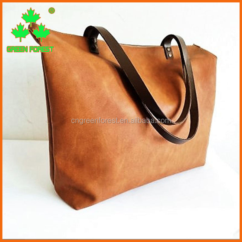 multi purpose zippered large vegan leather tote bag