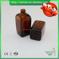 15ml 30ml 50ml 100ml square amber glass bottle