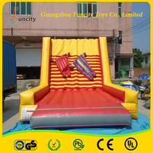 0.55 MM PVC Tarpaulin Inflatable Wall , Inflatable Sticky Wall for fun , Jumping Wall with Suits