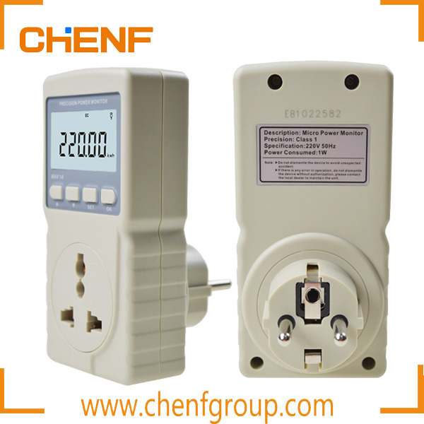 CE Approval Handheld Digital Precision Micro Power Monitor Electricity Monitor Meter 220V 50Hz Max 1A EU Plug
