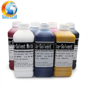 Supercolor No cleaning Quality For EPSON MIMAKI ROLAND MUTOH Eco solvent Ink---Have White Color In Stock