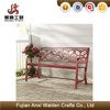 Outdoor red metal butterfly decoration garden bench