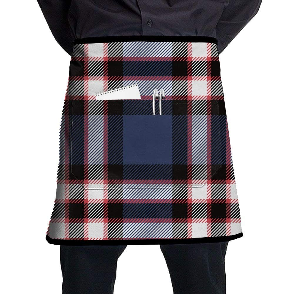 Apron, Stain Resistant Bib Apron With Pocket, Cooking Kitchen Aprons For Women Men Chef, Kitchen Accessories Plaid