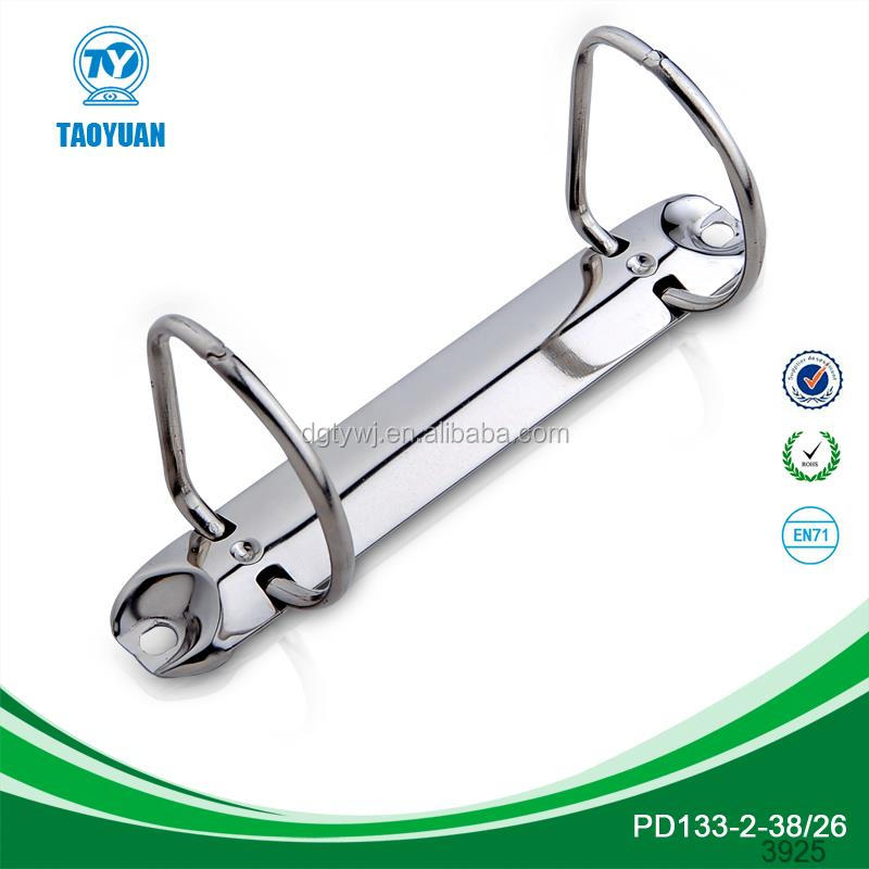 Hot sale small 2 ring metal binder clip in China PR123-2-20/20