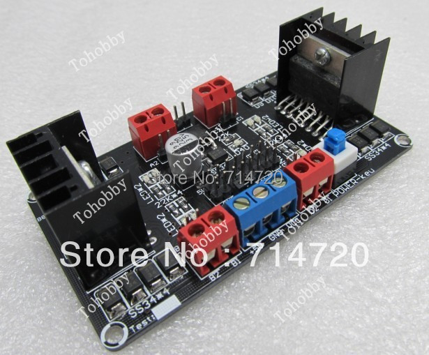 Free Shipping L298N Motor Control 4 DC Motor Driver Module 4DC Motor control Shield