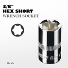 3/8 square drive socket wrench set hand tool crv tools kit 6/10/13/24mm wrench socket