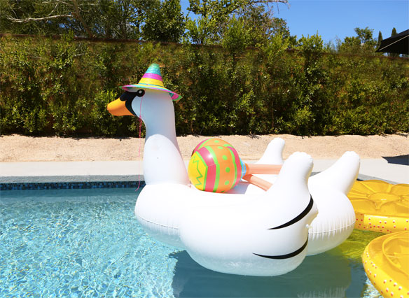2017 Factory Hot Selling Giant Inflatable Swan Pool Float