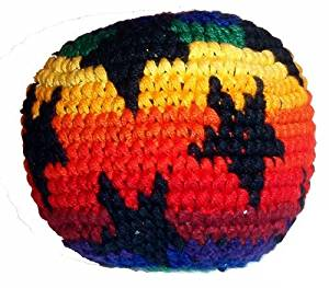Hacky Sacks / Footbags, Crocheted or Embroidered, Hand Made in Guatemala, Comes with Tips & Game Instructions