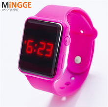 Digital silicone led watch,living water proof led touch screen watch