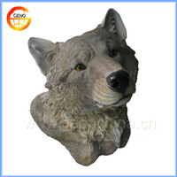 Wolf head plastic animal heads wall home decoration