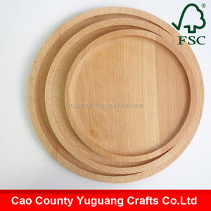 2016 Handcraft Beech Wood Round Wooden Pizza Tray