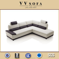 White and black recliner living room genuine sofa for sale