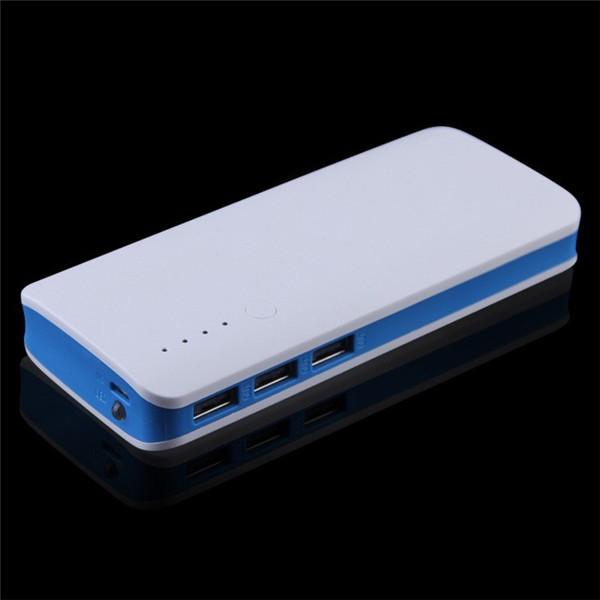 UltraThin High Capacity Power Bank 20000mAh Three USB Port Backup Battery For iPhone