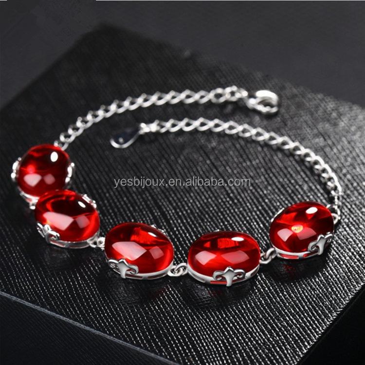 Silver ruby bracelet red agate jewellery bracelet фото