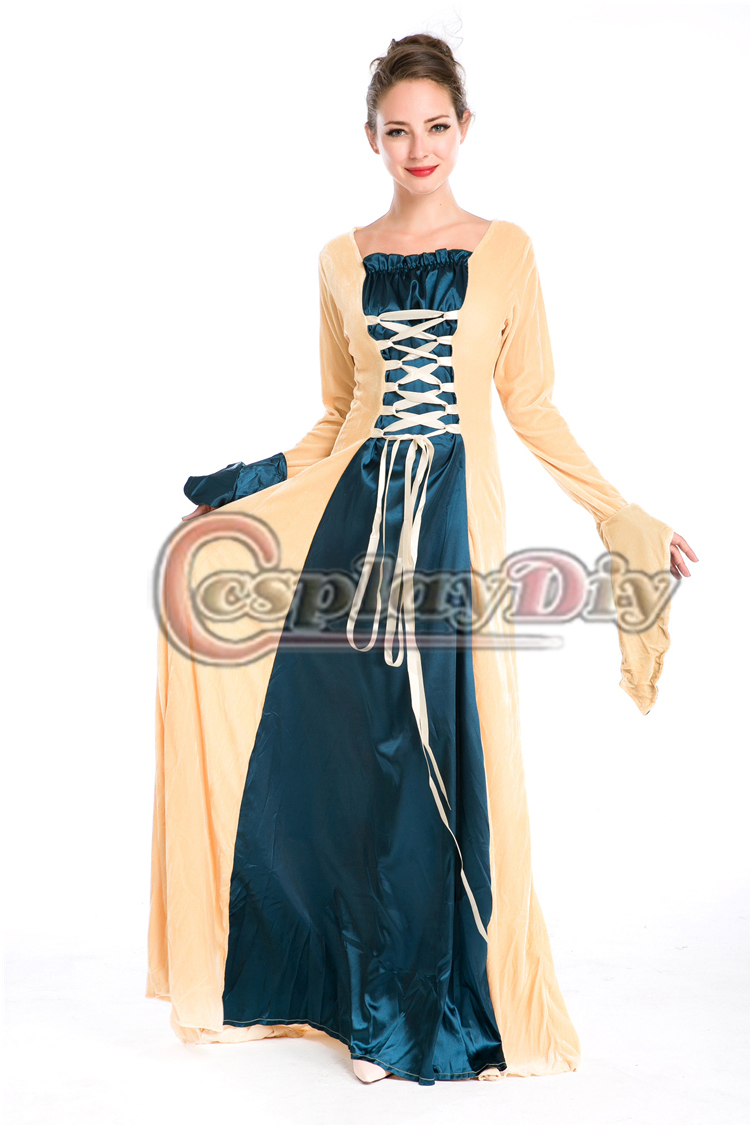 Get Quotations · European Royal Vintage Medieval Renaissance Costume Adult  Women Victorian Ball Gown Fancy Dress Halloween Costume 813b98b758d8