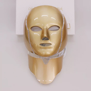 Professional 7 Colors Microcurrent Face Lift Machine 24k Gold Color Facial Mask with neck cover