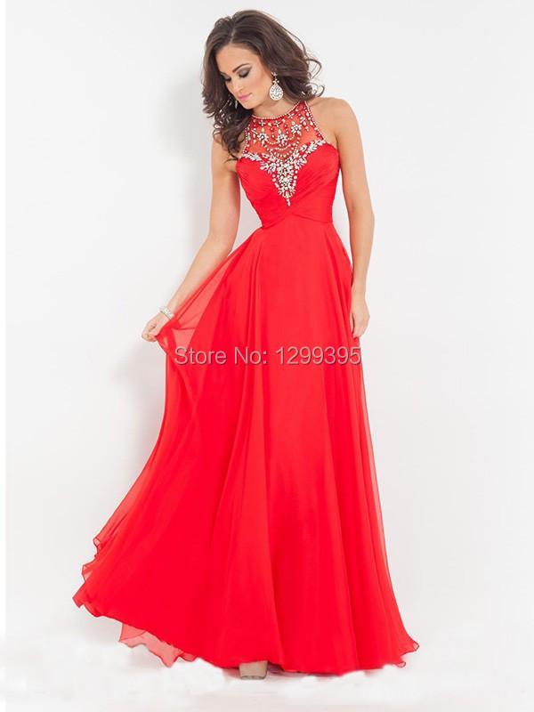 ef6446c67 sofisticado-vestido-en-rojo-de-pronovias vestidos rojos de boda largos