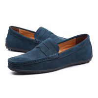 Canvas Style handmade leather mens moccasin driving loafer shoes male leather shoes