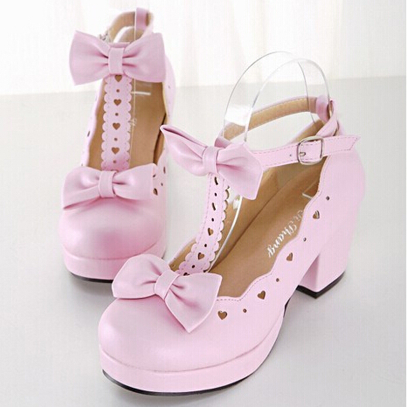 Womens Pink Lolita Shoes