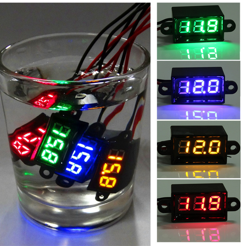 New 0.28 inch waterproof micro voltmeter! DC 3.50-30.0V two-line digital display / digital voltmeter