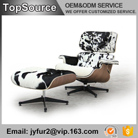 Wholesale Styling White Cow hide fur Chair Price OEM And ODM Lounge Set