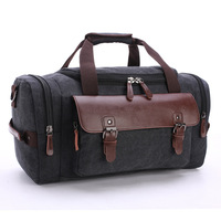 2019 Chinese Canvas Large capacity high quality new design men duffle bags genuine leather travel bag