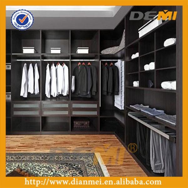 Dise o de lujo de madera armario abierto guardarropa walk - Armarios de lujo ...
