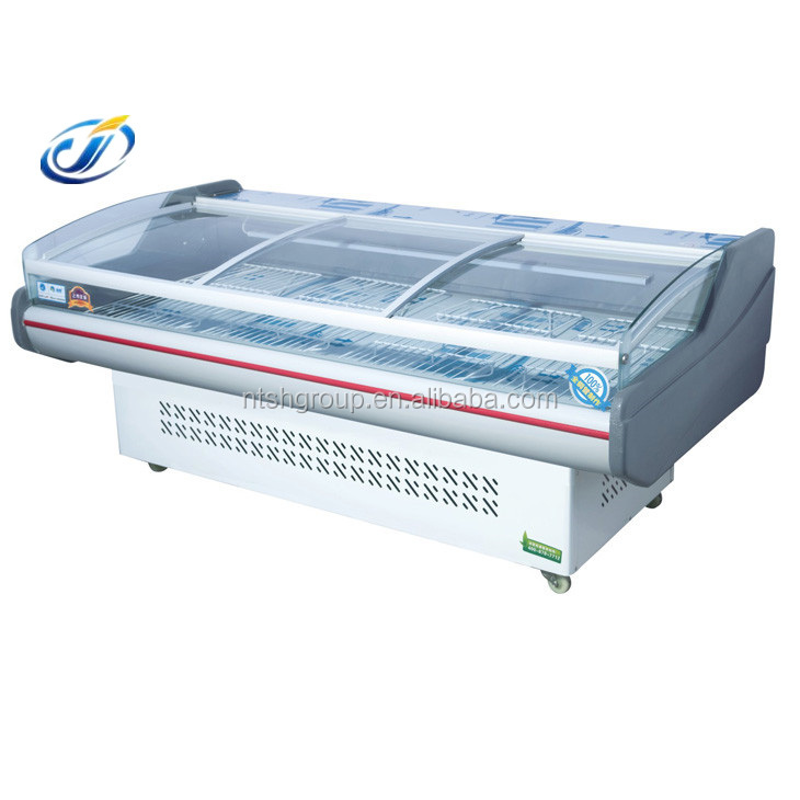 1.5 meter open top fan air cooling and static display freezer/ chiller showcase/ refrigerator display case(LS-15PFZ)