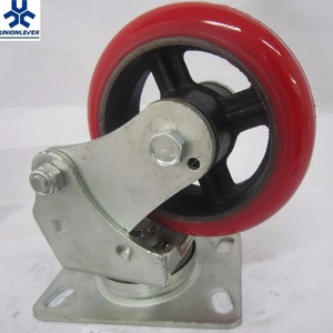 Factory supply 150mm swivel spring Shock absorption caster wheels