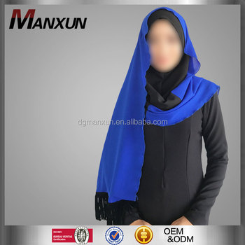 new designs blue dubai muslim hijab shawl scarf