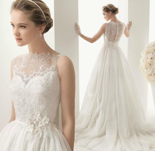 New Look White Strapless Romantic Wedding Dresses 2016