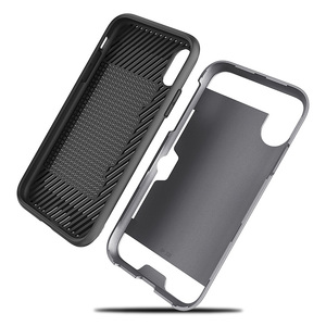 Hybrid bushed tpu pc card slot phone case for iPhone XS