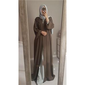Turkish Islamic Clothing Wholesale Muslim Abaya Dress Pearl Robes Macys  Dresses Modest Women Clothing DL2830